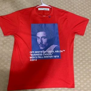 Off-White Virgil Abloh Red Bernini Tee